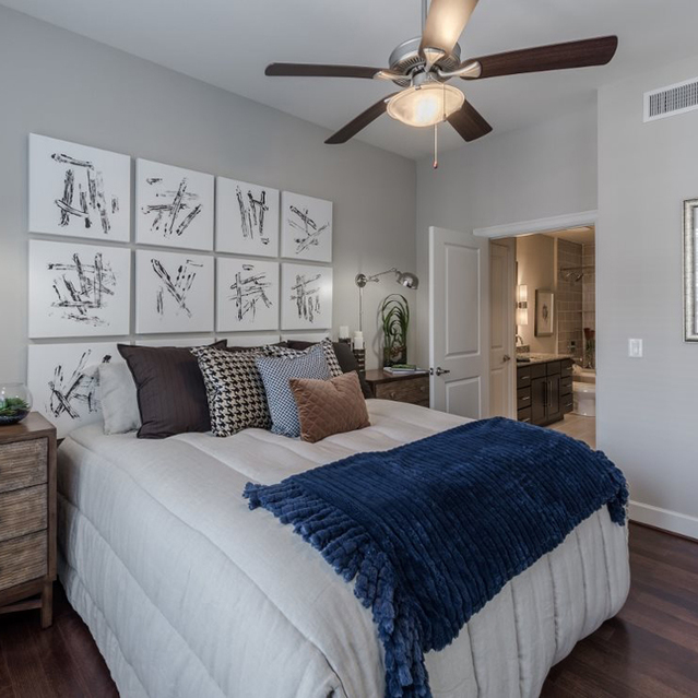 Bedroom at Ascent at City Centre Apartments in Houston