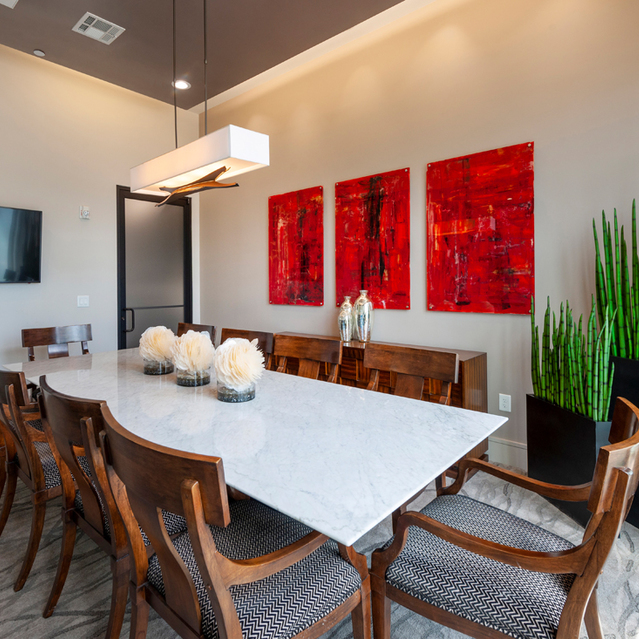 Conference room space at Ascent at City Centre Apartments in Houston